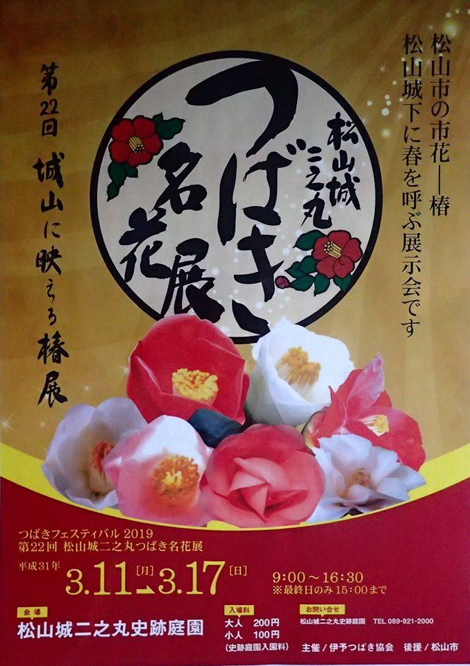 第22回松山城二之丸つばき名花展